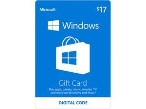 Microsoft Windows Store Gift Card - $17 (Email Delivery)