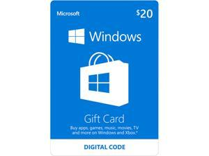 Deals on $20 Microsoft Windows Store Gift Card Email Delivery