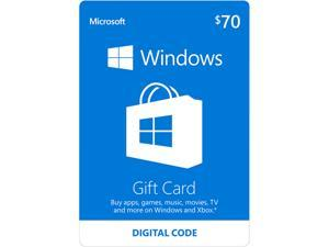 Microsoft Windows Store Gift Card - $70 (Email Delivery)