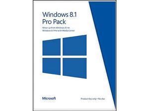 Microsoft Windows 8.1 Pro Pack (Win 8.1 to Win 8.1 Pro Upgrade) - Product Key Card (no media)
