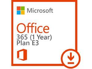 Microsoft Office 365 (Plan E3) - Subscription license (1 year) - 1 user - hosted - Microsoft Qualified - Open License - Open - Single Language