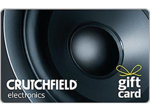 Crutchfield $100 Gift Card (Email Delivery)