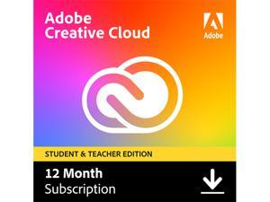 Adobe - Creative Cloud Student & Teacher Edition (1-Year Subscription) - Mac, Windows, iOS [Digital] - Validation Required