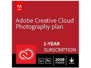 Adobe Creative Cloud Photography plan with 20GB storage - 1 Year Subscription (PC/MAC Digital)