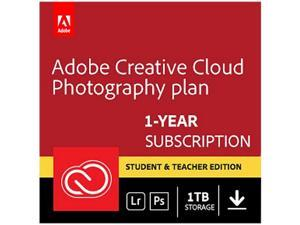 Adobe Creative Cloud Photography plan with 1TB Student and Teacher (PC/MAC Digital) - Validation Required