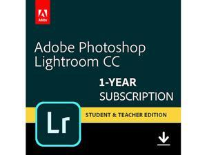 Adobe - Photoshop Lightroom CC Student & Teacher Edition (1-Year Subscription) - Mac, Windows [Digital] - Validation Required