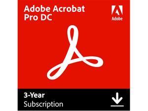 Adobe Acrobat Pro DC for Windows & Mac - Digital Membership [Prepaid 3 Year]