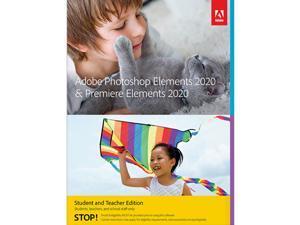 Adobe Photoshop & Premiere Elements 2020 for Student & Teacher - Validation Required - Windows & Mac