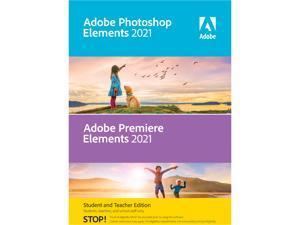 Adobe Photoshop Elements & Premiere Elements 2021 Student & Teacher (Verification Required) - Windows Download