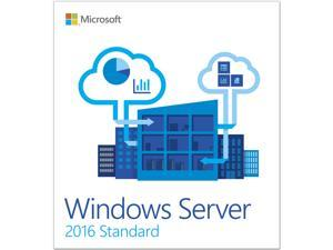 Microsoft P73-07063 Windows Server 2016 Standard 64-bit with 10 Clients User-CALs Box Pack Retail
