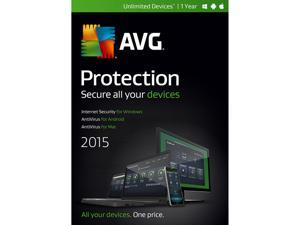 AVG Protection 2015 - Unlimited Devices / 1 Year (Internet Security)