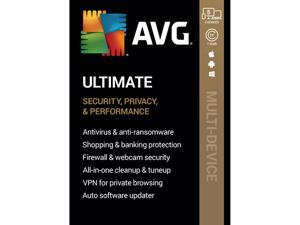 AVG Ultimate [Security, Privacy and Performance] 2020, 5 Devices 1 Year [Key Card]