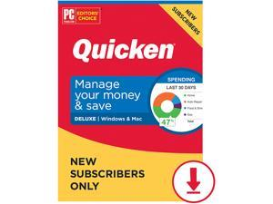 Quicken Deluxe 2021 for New Subscribers Only - 1 Year [Windows/Mac Download]