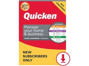 Quicken Home & Business 2021 for New Subscribers Only - 1 Year [Windows Download]