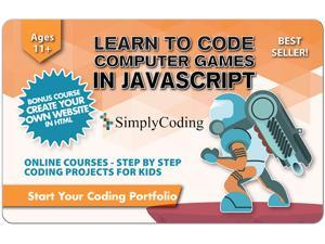 Learn to Code Computer Games in Javascript for Kids - Ages 11+ Gift Card (Email Delivery)