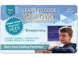 Learn to Code Your Own Games, Websites, Apps (Ages 11+) $100 Gift Card (Email Delivery)