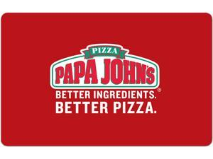 Papa John's $50 Gift Card (Email Delivery)