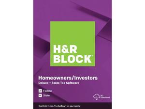 Deals on H&R BLOCK Tax Software Deluxe + State 2019 + $25 Uber Eats GC