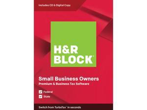 H&R BLOCK Tax Software Premium & Business 2019