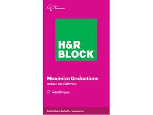 H&R BLOCK Tax Software Deluxe 2020 Windows (Download)