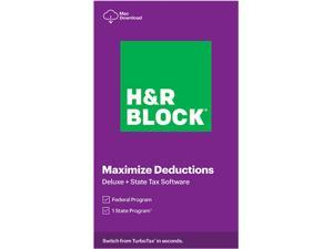 H&R BLOCK Tax Software Deluxe + State 2020 PC/Mac - Download (Bundle)