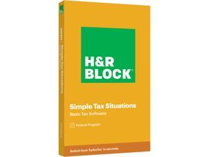 H&R BLOCK Tax Software Basic 2020 PC Windows/Mac (Key Card)