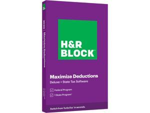 H&R Block Tax Software Deluxe + State 2020 PC Windows/Mac (Bundle Key Card)