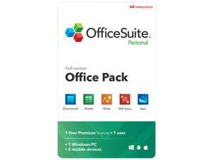 MobiSystems OfficeSuite Personal Compatible with Microsoft Office & Adobe PDF - 1 Year License - Download