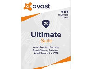 Avast Ultimate Suite [Security, Cleanup and VPN] 2021, 10 Devices 1 Year - Download