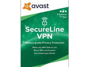 Avast SecureLine VPN 2021, 5 Devices 1 Year - Download