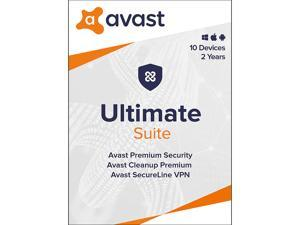 Avast Ultimate Suite [Security, Cleanup and VPN] 2021, 10 Devices 2 Years - Download