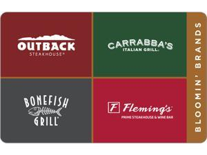 Bloomin' Brands $50.00 Gift Card (Email Delivery)