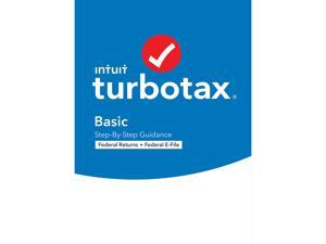 TurboTax Basic 2020 Desktop Tax Software, Federal Returns Only + Federal E-file [PC Windows/Mac Disc]