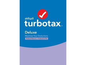 TurboTax Deluxe 2020 Desktop Tax Software, Federal Returns Only + Federal E-file [PC Windows/Mac Disc]