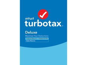 TurboTax Deluxe 2020 Desktop Tax Software, Federal and State Returns + Federal E-file (State E-file Additional) [PC Windows/Mac Disc]