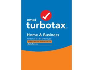 TurboTax Home & Business 2020 Desktop Tax Software, Federal and State Returns + Federal E-file (State E-file Additional) [PC Windows/Mac Disc]