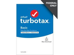 TurboTax Basic 2020 Desktop Tax Software, Federal Returns Only + Federal E-file [MAC Download]
