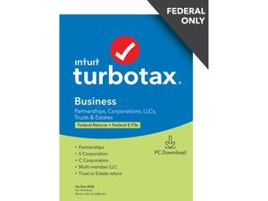 TurboTax Business 2020 Desktop Tax Software, Federal Return Only + Federal E-file [PC Windows Download]