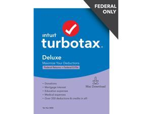 TurboTax Deluxe 2020 Desktop Tax Software, Federal Returns Only + Federal E-file [Mac Download]
