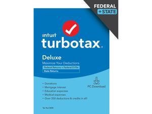 TurboTax Deluxe 2020 Desktop Tax Software, Federal and State Returns + Federal E-file (State E-file Additional) [PC Windows Download]