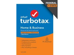 TurboTax Home & Business 2020 Desktop Tax Software, Federal and State Returns + Federal E-file (State E-file Additional) [PC Windows Download]