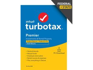 TurboTax Premier 2020 Desktop Tax Software, Federal and State Returns + Federal E-file (State E-file Additional) [PC Windows Download]