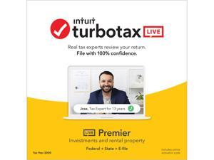 TurboTax LIVE Premier, Tax Experts and CPAs on Your Screen to help plus Final Review, 2020 Tax Software Online, Federal + State + E-file [Online Code]
