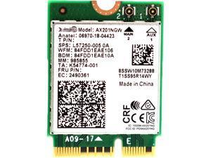 Intel AX201.NGWG.NV Wi-Fi 6 AX201 2230 2X2 AX+Bluetooth  Wireless Adapter