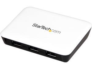StarTech ST3300U3S USB 3.0 to Gigabit Ethernet NIC Network Adapter with 3 Port Hub - White