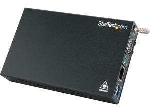 StarTech ET91000SFP2 Gigabit Ethernet Fiber Media Converter with Open SFP Slot