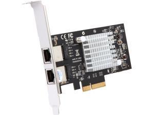 StarTech ST2000SPEXI 10/100/1000Mbps PCI-Express Dual Port PCI Express (PCIe x4) Gigabit Ethernet Server Adapter Network Card