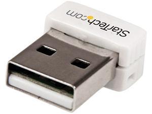 StarTech USB150WN1X1W USB 150 Mbps Mini Wireless N Network Adapter - 802.11n/g 1T1R USB W-iFi Adapter - White
