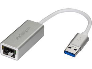 StarTech.com USB 3.0 to Gigabit Network Adapter - Silver - Sleek Aluminum Design Ideal for MacBook, Chromebook or Tablet
