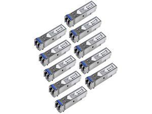 StarTech.com GLCLHSMD10ST Cisco GLC-LH-SMD Compatible SFP Module - 1000BASE-LX/LH Fiber Transceiver - GLCLHSMD10ST - 10 Pack